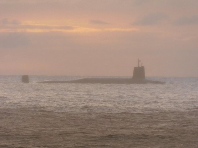 A large submarine off Donegal this morning. Photo: Damien McCallig.