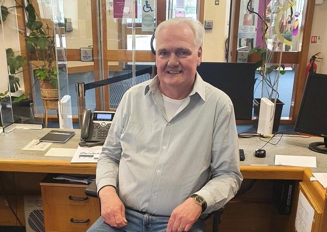 RETIRING.... John Campbell pictured at the Creggan Library.