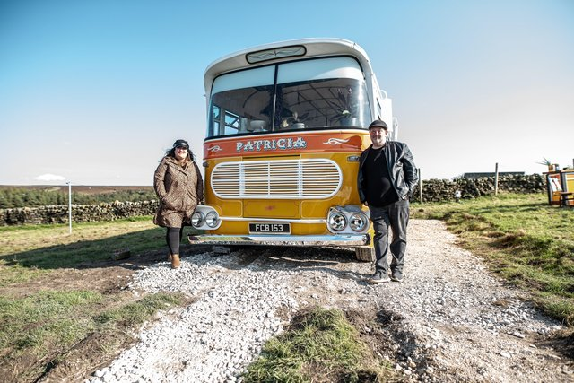 Johnny and Bev and the bus