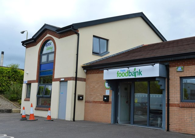 The Foyle Foodbank has also reported a surge in need over recent times.  DER2619GS-056