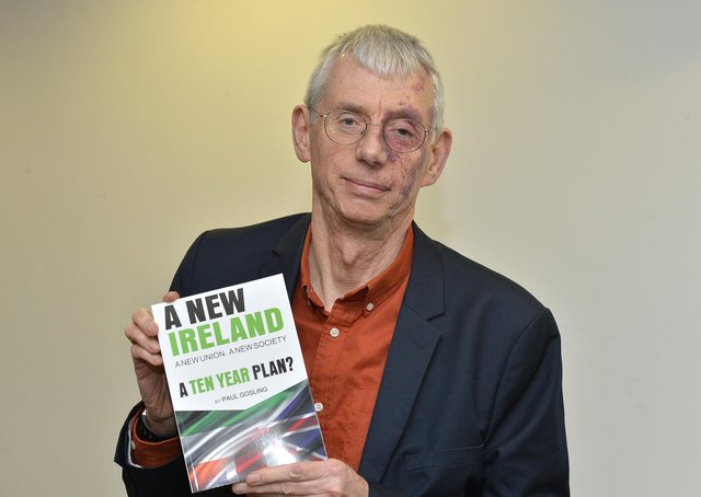 Derry-based journalist Paul Gosling pictured at the recent launch of his new book 'A New Ireland: A Ten Year Plan', held in the Holywell Trust, Bishop Street. DER5118GS001