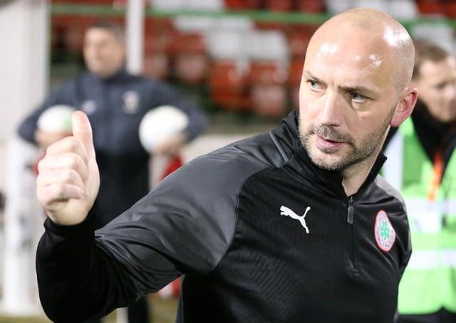 Cliftonville boss Paddy McLaughlin.