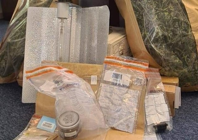 Items police said they uncovered during the operation.