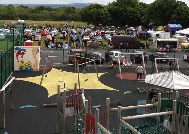 Muff Community Park will open next week. It has hosted a number of events in recent years, including a vintage show.