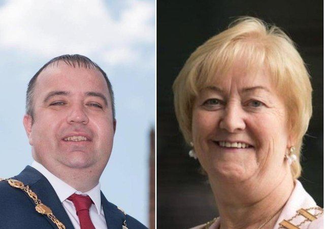 Mayor Brian Tierney and Cathaoirleach Councillor Rena Donaghey.