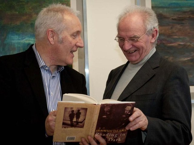 The late Seamus Deane, on right, who has passed.