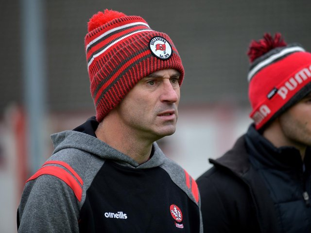Derry manager Rory Gallagher