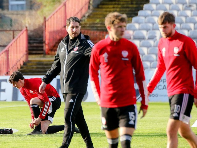 Derry City boss Ruaidhri Higgins wants his side to express themselves at champions Shamrock Rovers, tomorrow night. Picture by Kevin Moore/Maiden City Images