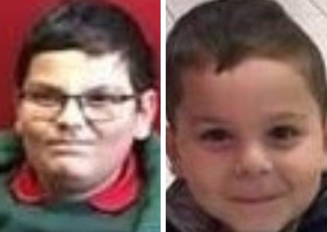 Fabrizio (8) and Patrick (5) Hovarth were last seen on Friday.