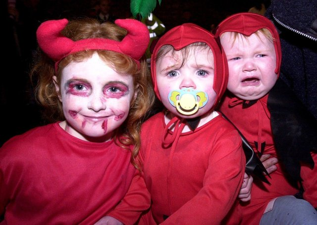 One of these little devils wasn't up for having his photo taken.