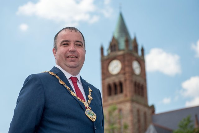 Councillor Brian Tierney, Mayor of Derry City and Strabane District Council. Picture Martin McKeown. 01.06.20