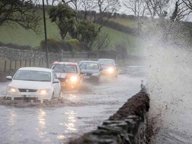 Heavy rain and winds battered the Ards Peninsula in February this year. (Photo: McAuley Multimedia)