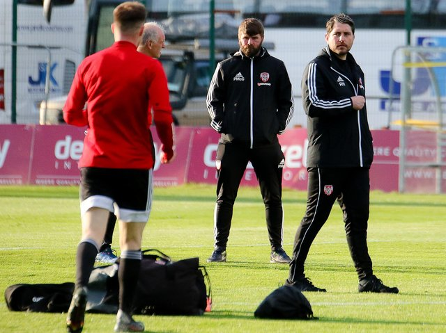 Derry City manager Ruaidhri Higgins wants his players to be ready from the off at the RSC tonight, Picture by Kevin Moore/Maiden City Images
