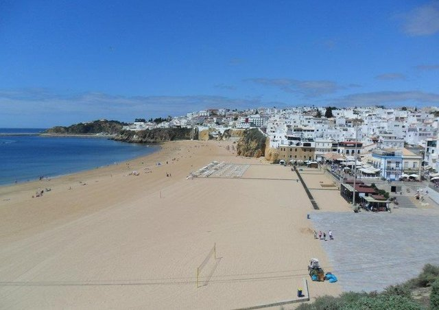 Albufeira in Portugal is popular with local holidaymakers.