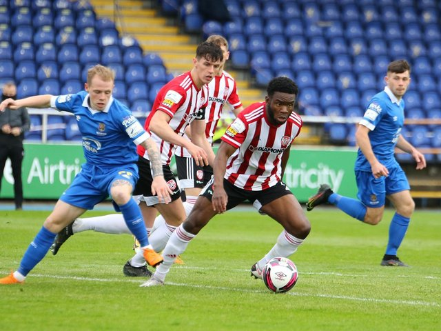 James Akintunde in action at the RSC. Picture by Kevin Moore.
