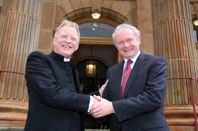 Rev. David Latimer and Martin McGuinness.