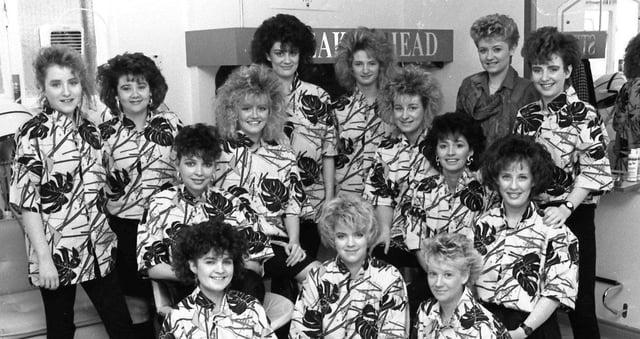 November... Staff of Streaks Ahead hair studio at William Street.