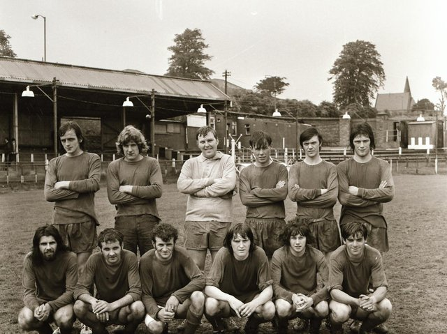 The Buncrana Hearts team who completed the D&D double when winning the Doyle Cup in 1971.
