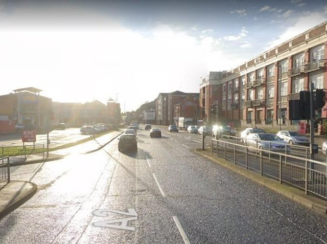 The section of Strand Road that will be affected by traffic restrictions.