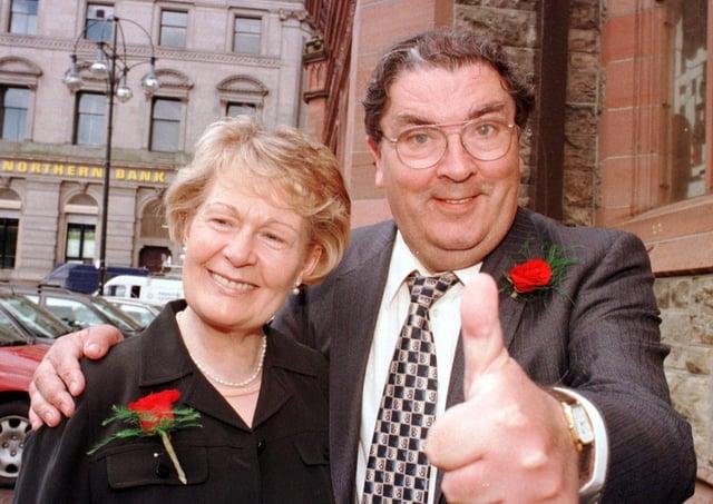 Nobel Laureate John and Pat Hume at the Guildhall.