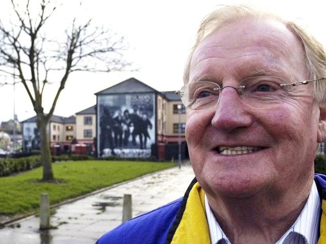 THE SECRET PEACEMAKER... Brendan Duddy in the Bogside in 2008.