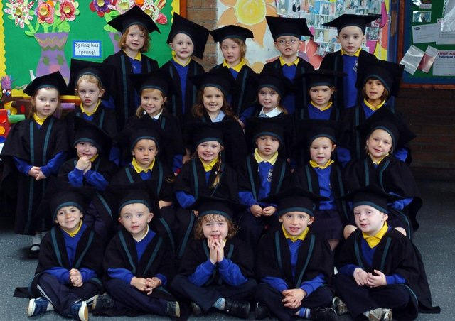 Pupils from Chapel Road reception class pictured after their graduation ceremony held at the school. (2106A05)