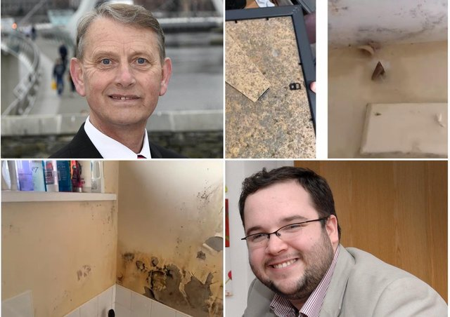 Alderman Devenney raised concerns over works and Colr. Doyle showed the above images of damp from one home and shared the above images of mushrooms growing on the walls and damp.