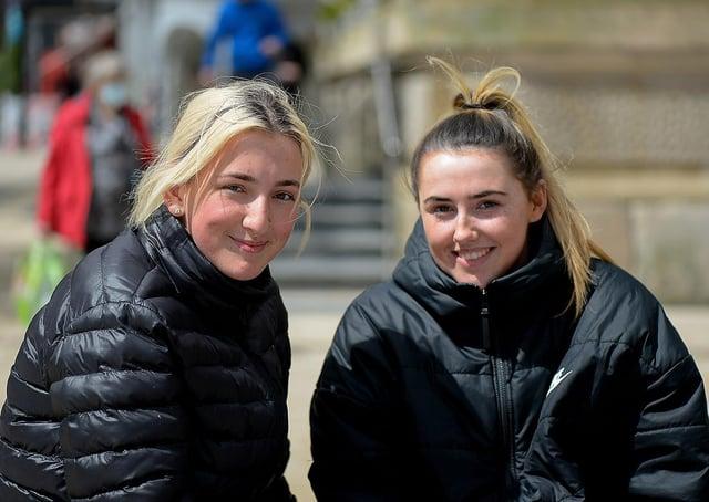 Bethany Richmond (left) and Aimee Hughes.  DER2121GS - 017