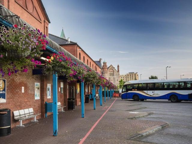 Foyle Street bus depot.