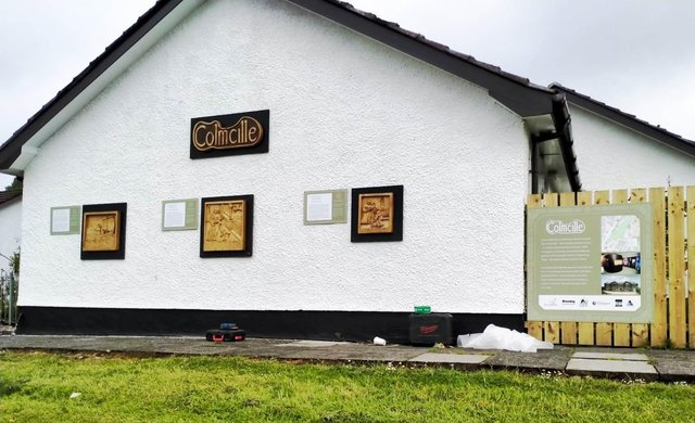 The Colmcille display at St Columb's Wells in the Bogside.