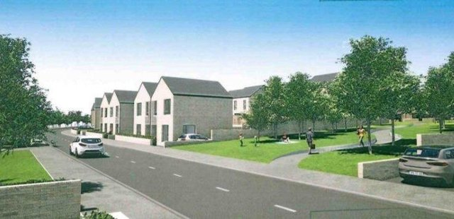 An artist's impression of how some of the new housing will look at the Sean Dolan's development.