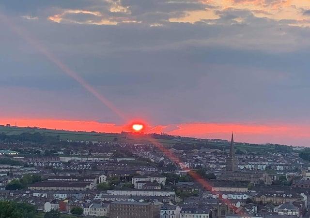 Alana Furey - sunset over the city