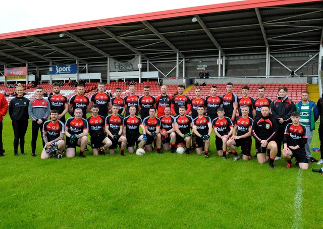 The Sean Dolans senior footballers who defeated Glack in the Neal Carlin Cup final, on Friday evening last, in Celtic Park. (Photo: George Sweeney)