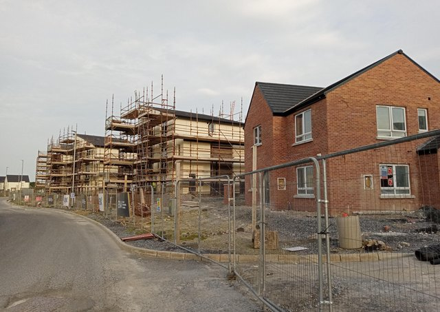 One of the major Apex developments taking shape in the Skeoge area of the city this week.