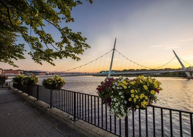 Flowers along the quay in Derry have added a welcome splash of colour along the quay.