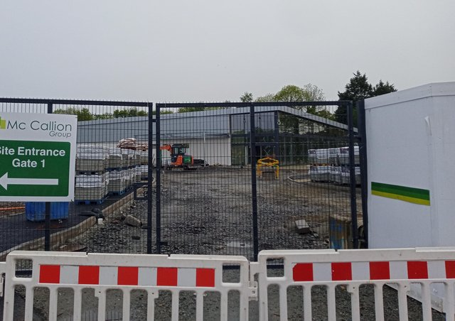 The new LIDL store under construction at Springtown in Derry.