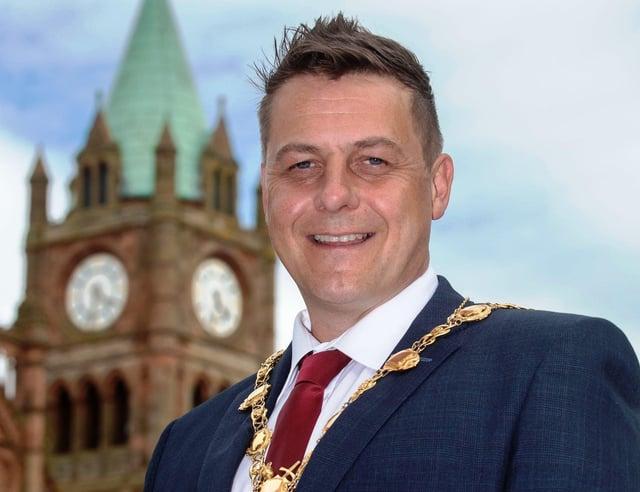 Derry City and Strabane District Council Mayor Alderman Graham Warke. Picture Martin McKeown. 07.06.21