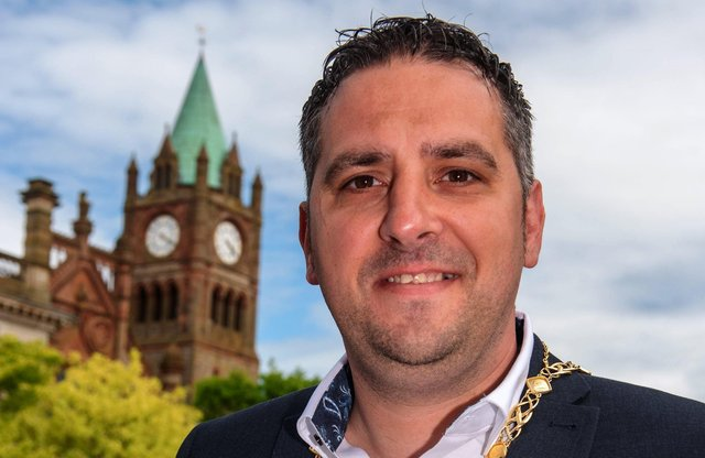 Derry City and Strabane District Council Deputy Mayor Councillor Christopher Jackson. Picture Martin McKeown. 07.06.21