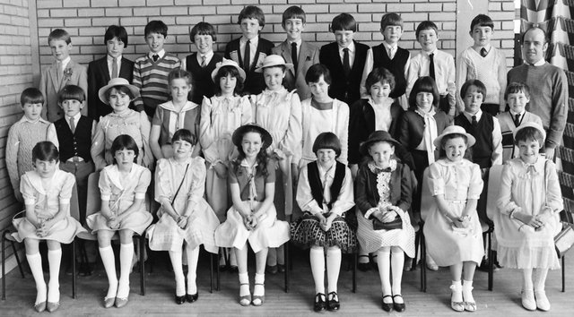 One of the 1983 Confirmation classes from Carnhill PS.