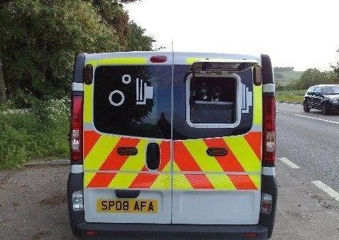 A roadside speed camera van. Picture: Johnston Press