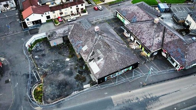 An aerial shot of the site in the Bogside to be developed.
