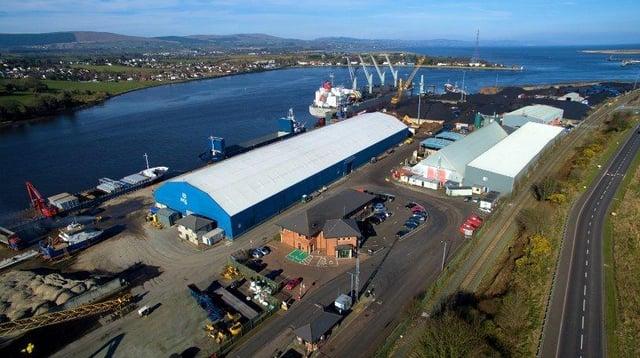 Foyle Port in Derry.