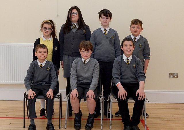 Mrs M. Coyle's LSC P7 class at the Model Primary and Nursery School, Derry. DER2121GS – 038