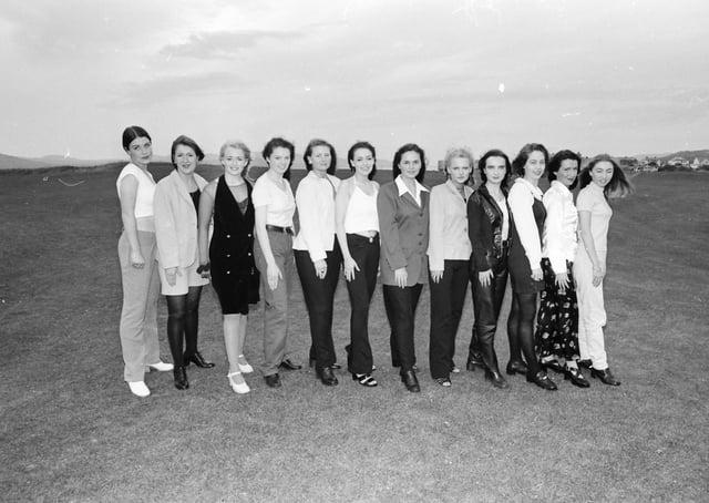 Miss Donegal finalists pictured at the White Strand Hotel in Buncrana. From left, Vega Powell, Hazel McCracken, Paula Leonard, Sharon McDaid, Alison O'Donnell, Helen Lafferty, Jennifer Hegarty, Louise Minnock, Lesa Gillespie, Sarah McDermott, Maeve Rodgers and Brenda Lynch.