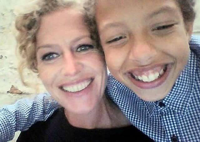 Noah Donohoe with his mum Fiona.