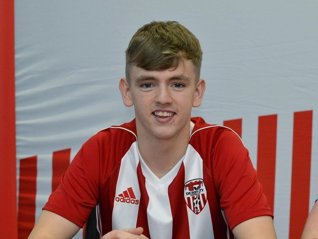 Ciaron Harkin was delighted to pen a new contract at Derry City.