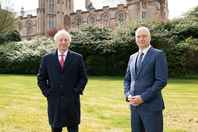 Dr Peter Fitzgerald and Professor Paul Bartholomew at UU Magee.