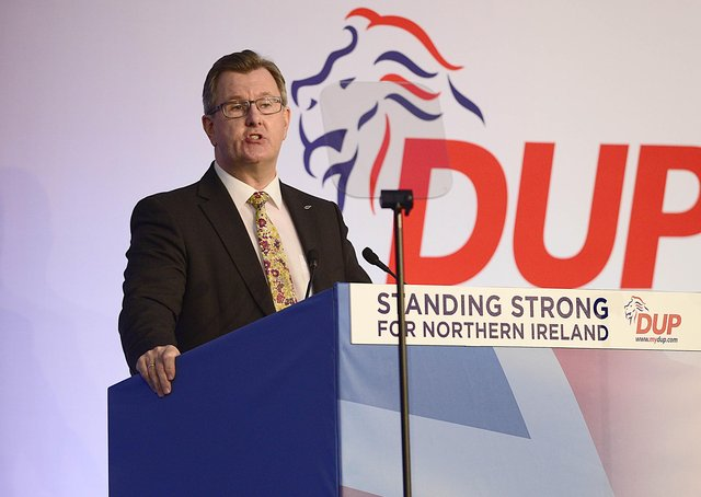 New DUP Leader Jeffrey Donaldson pictured previously. Picture By: Arthur Allison/Pacemaker Press