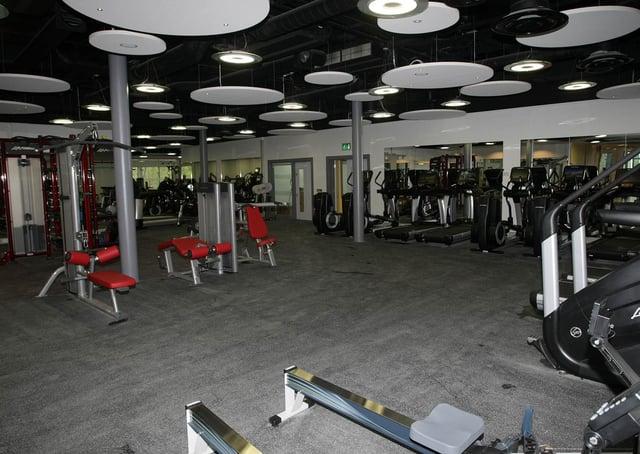 The gym at Foyle Arena in Derry. DER1615MC052
