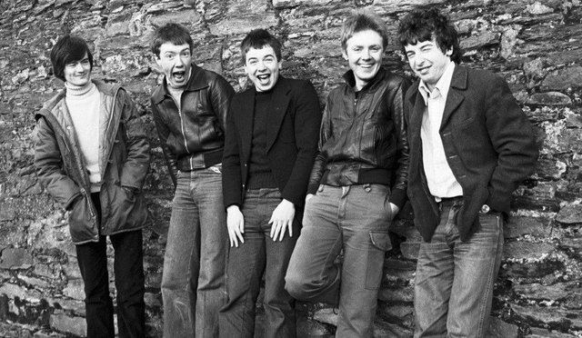 The Undertones at Bull Park, Derry, in the late 1970s. Photo: Larry Doherty.